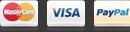 Formas de pago: Mastercard, Visa o Paypal