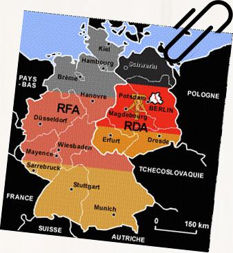 Mapa de la RDA