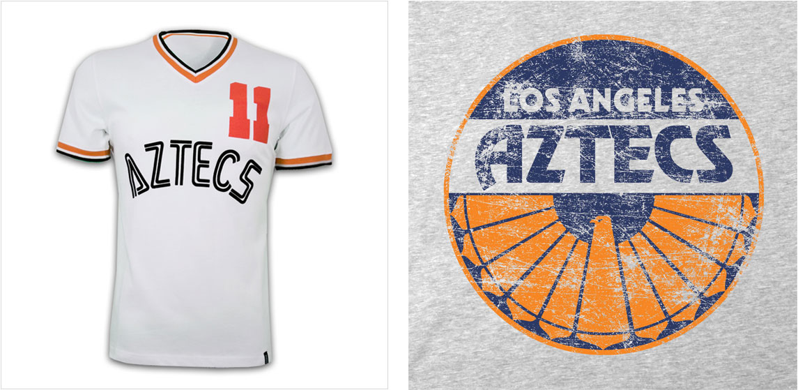 """Escudo y camiseta de """"Los Ángeles Aztec"""""""