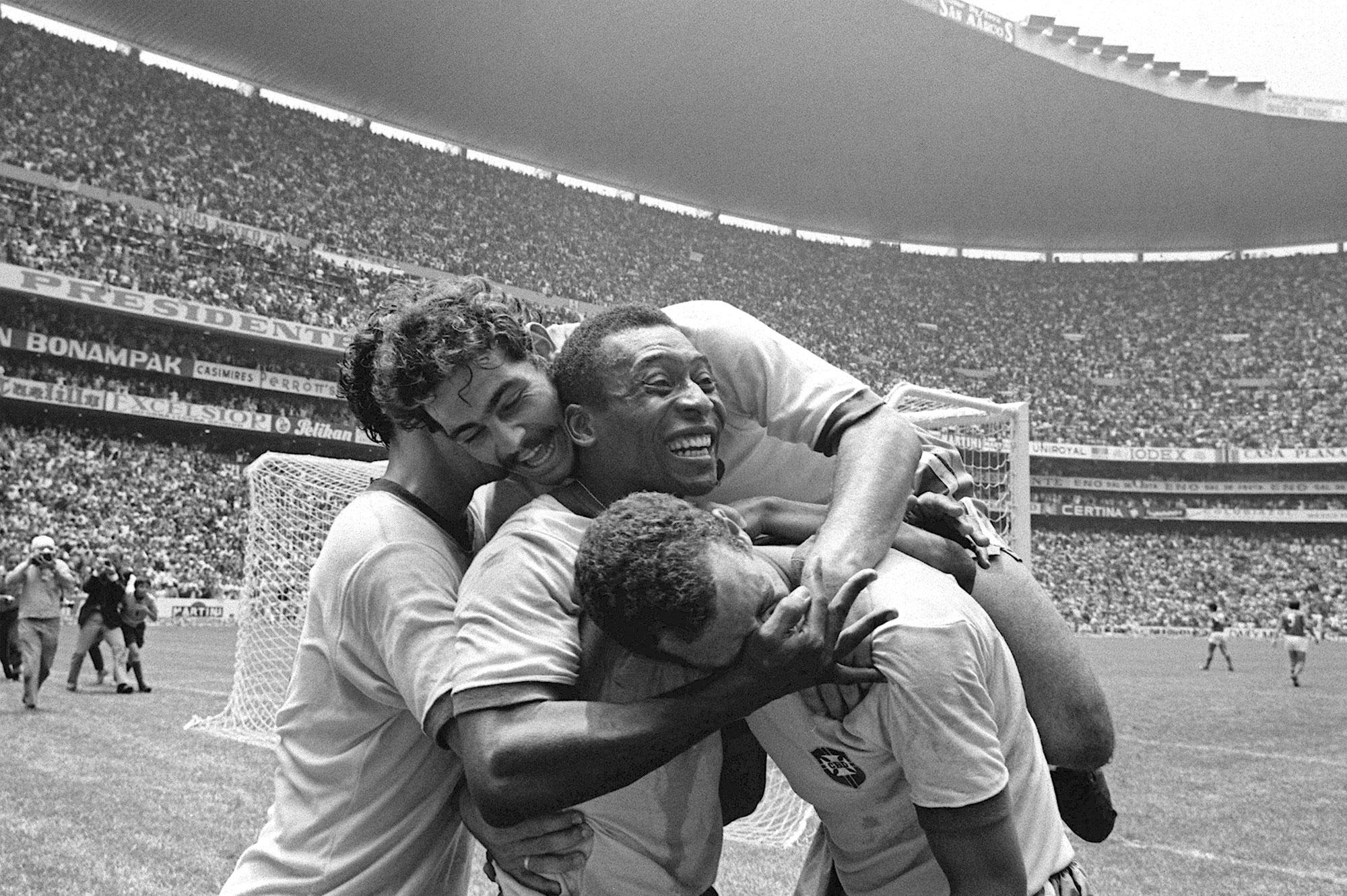 Celebración gol Brasil70