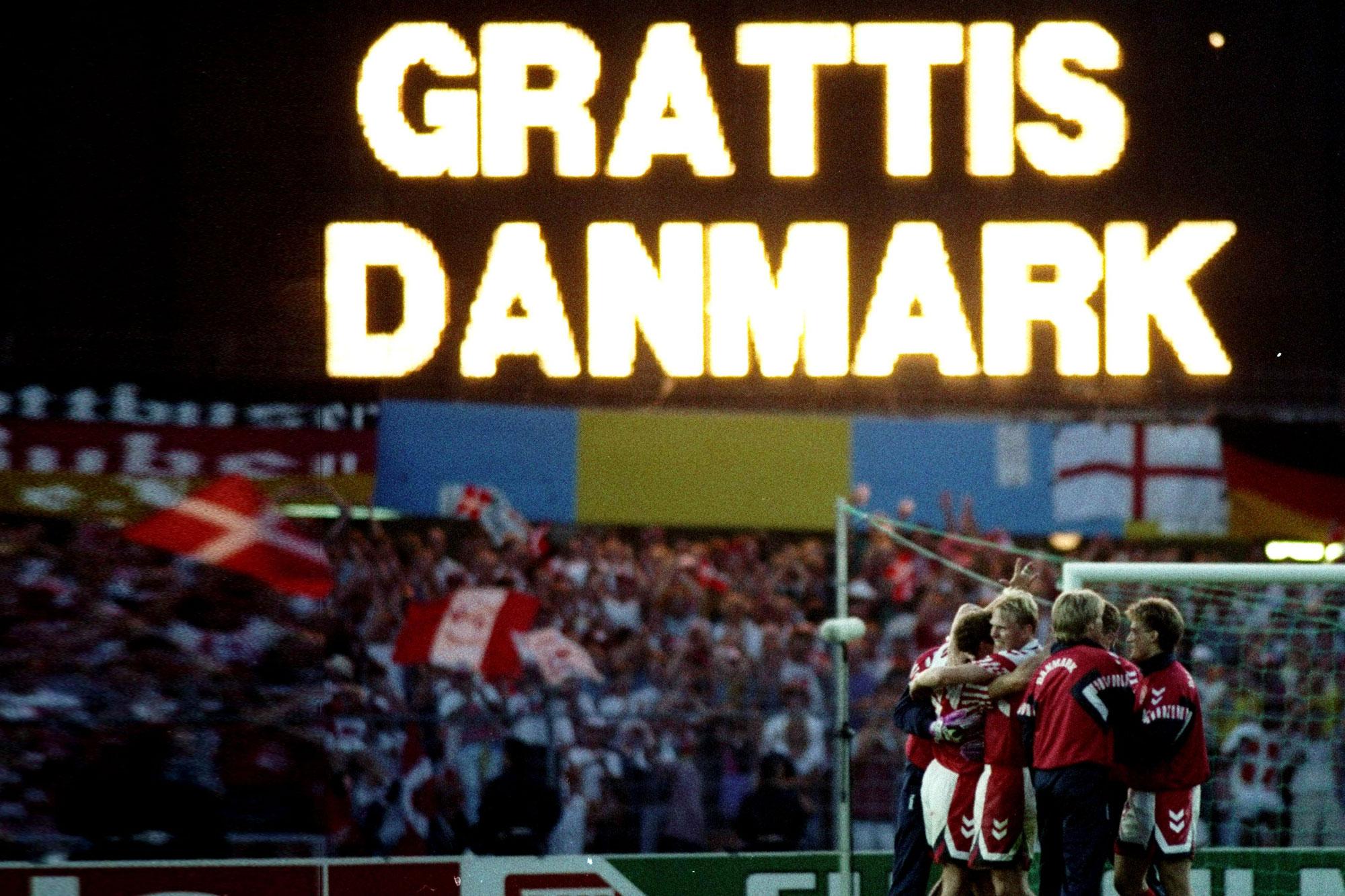 Dinamarca 92 celebración