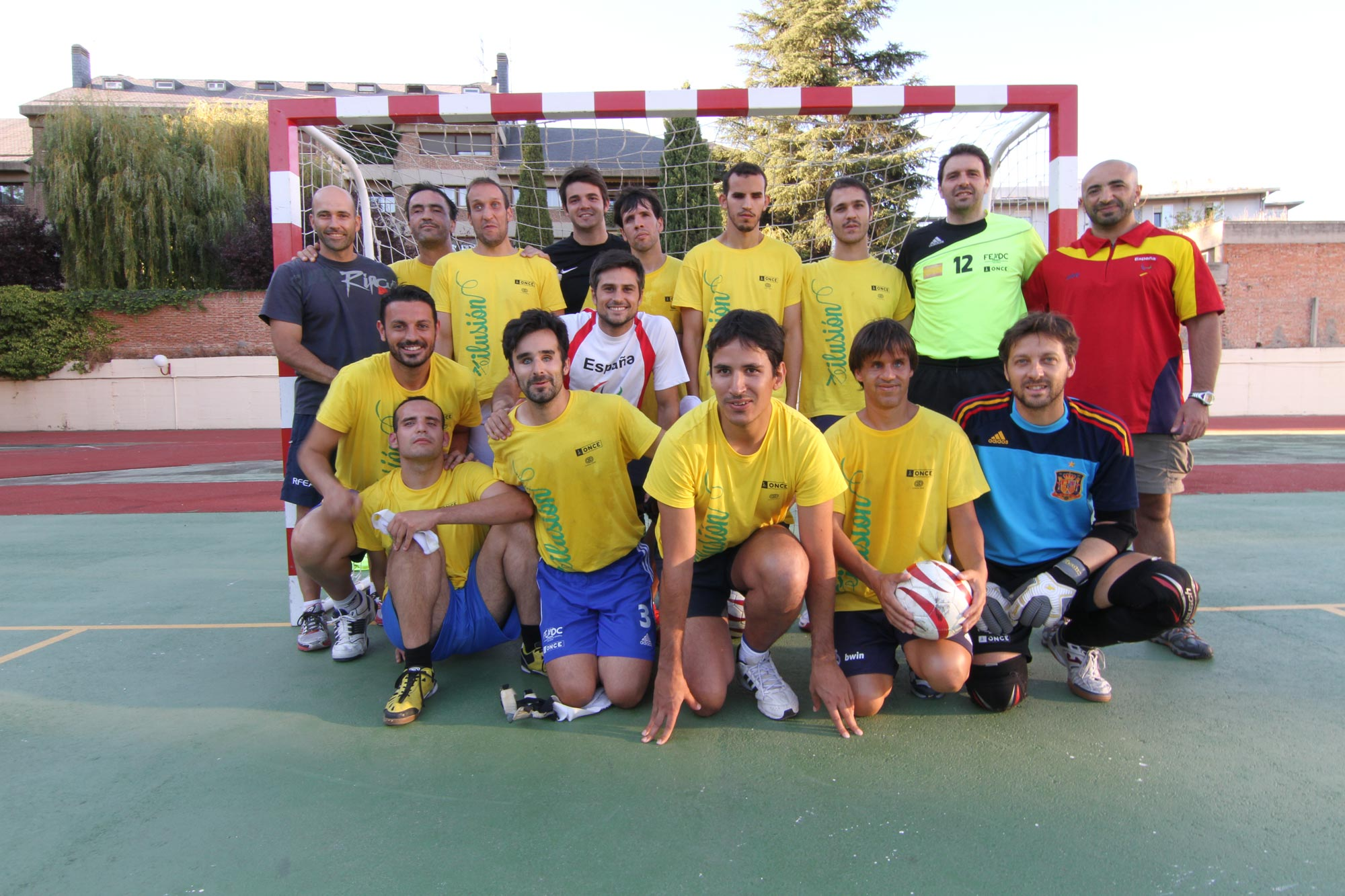 Foto de equipo de fútbol sala para ciegos