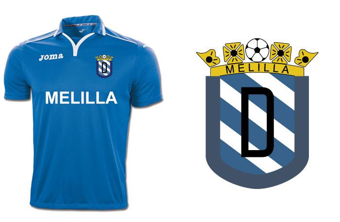 Camiseta y escudo del Melilla