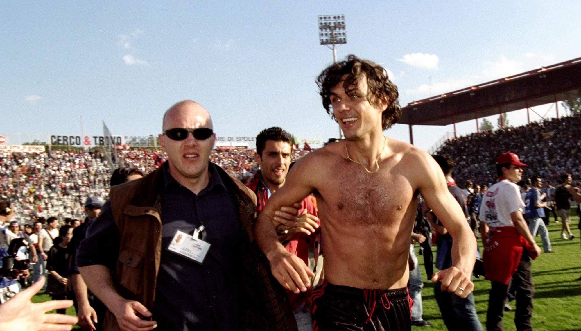 Paolo Maldini con el Milan
