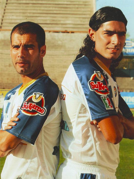 Guardiola y Abreu en el Dorados