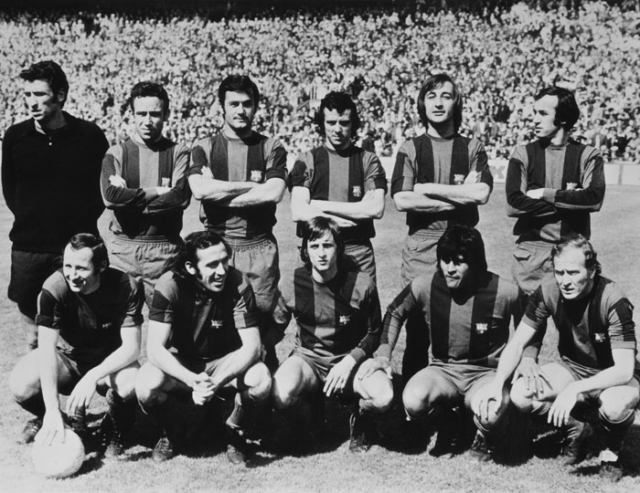 Once del Barcelona con Cruyff