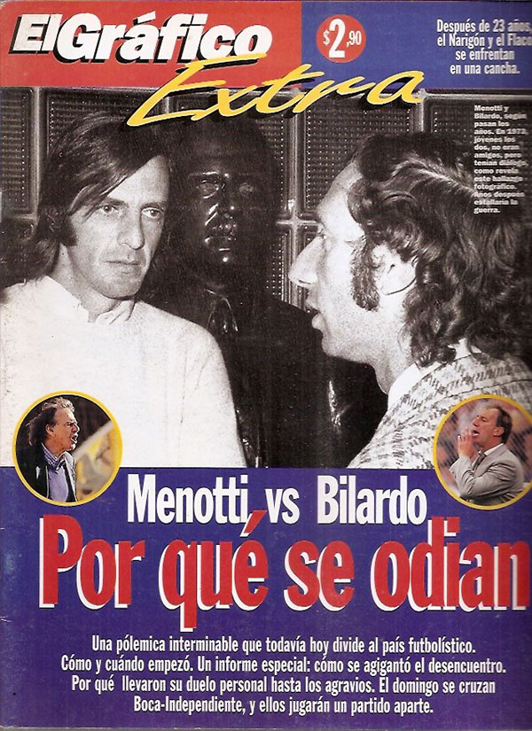 portada de El Gráfico sobre Bilardo y Menotti
