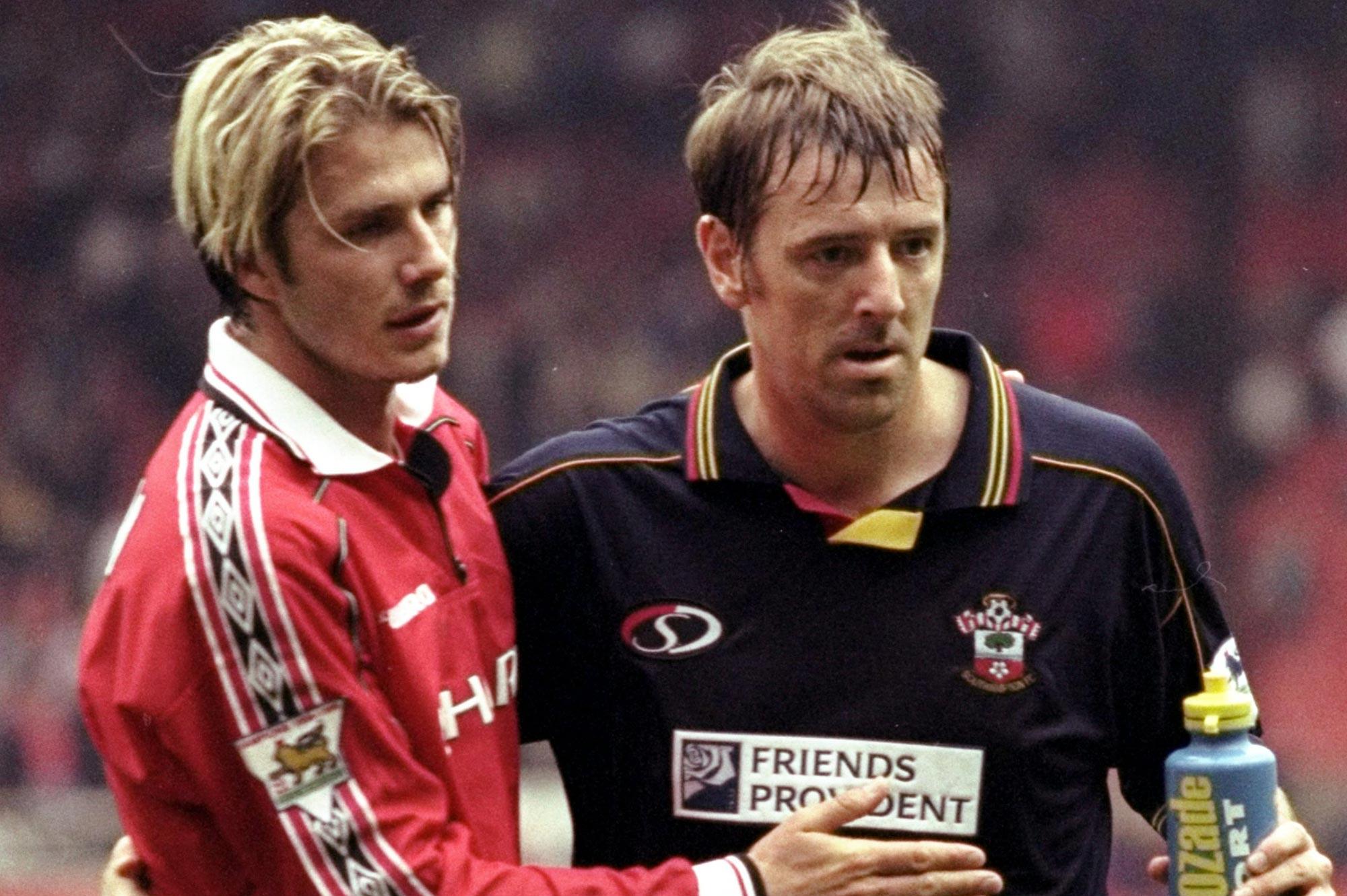 Le Tissier con Beckham
