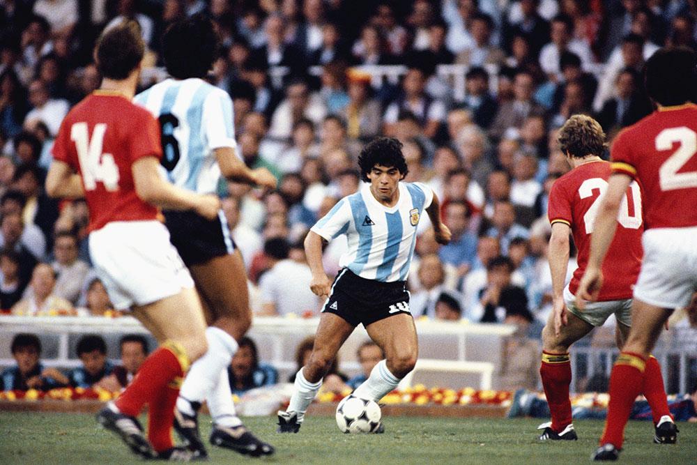 Maradona en el Mundial de 1982