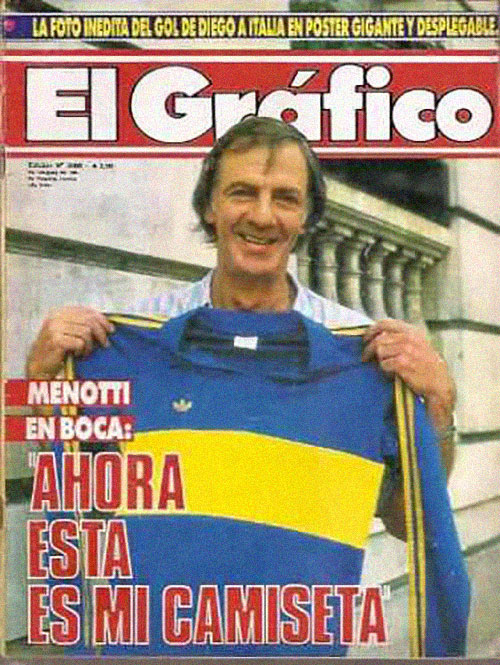 Portada de El Gráfico con Menotti con Boca