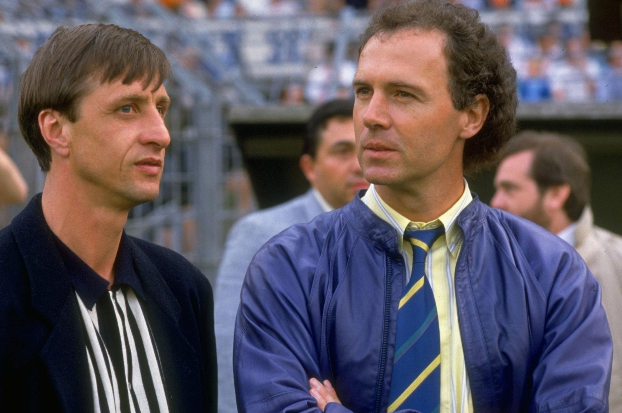 Cruyff con Beckenbauer