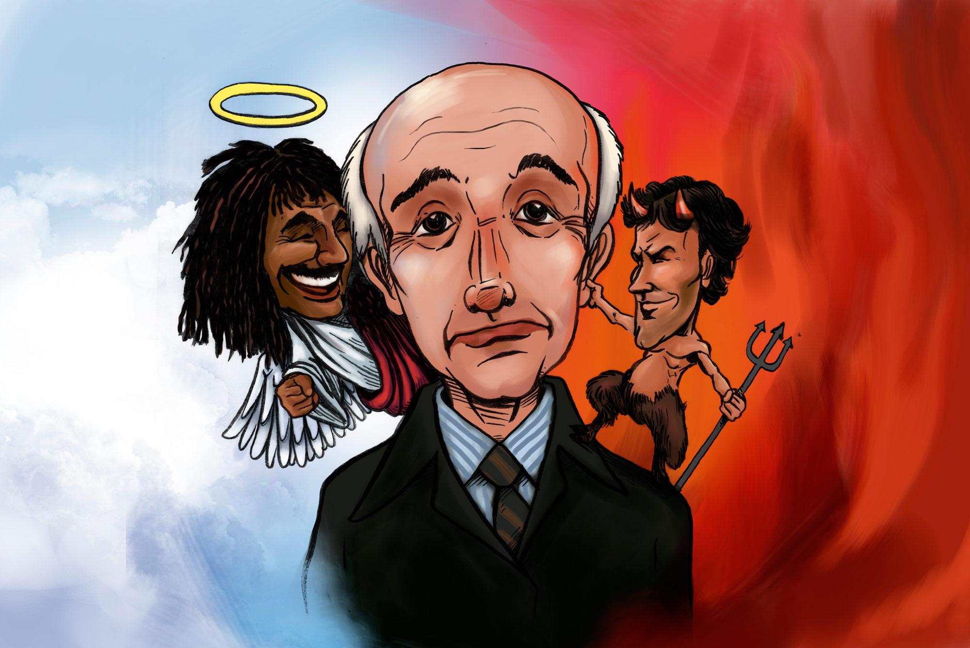 Caricatura Sacchi, Gullit y Van Basten