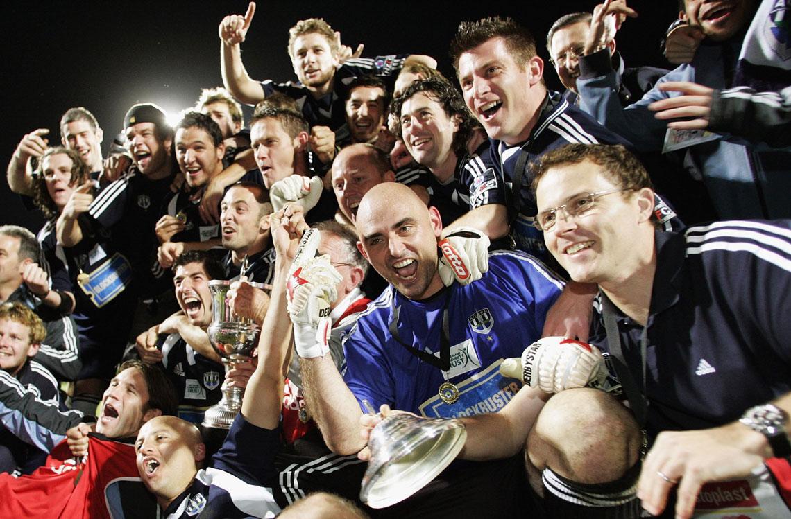 Auckland City celebra su título de la OFC en 2006