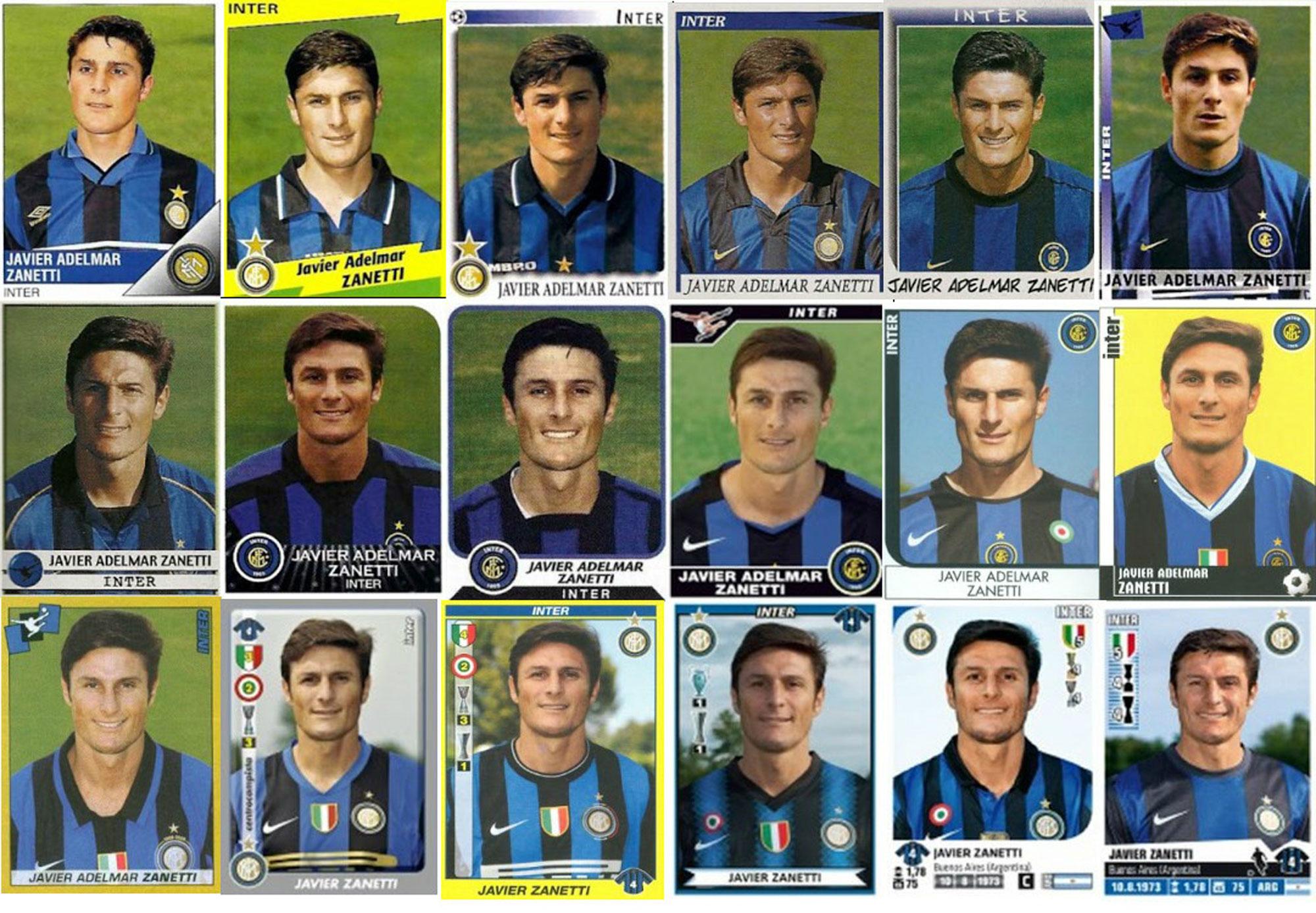 Todos los cromos de Zanetti en el Inter