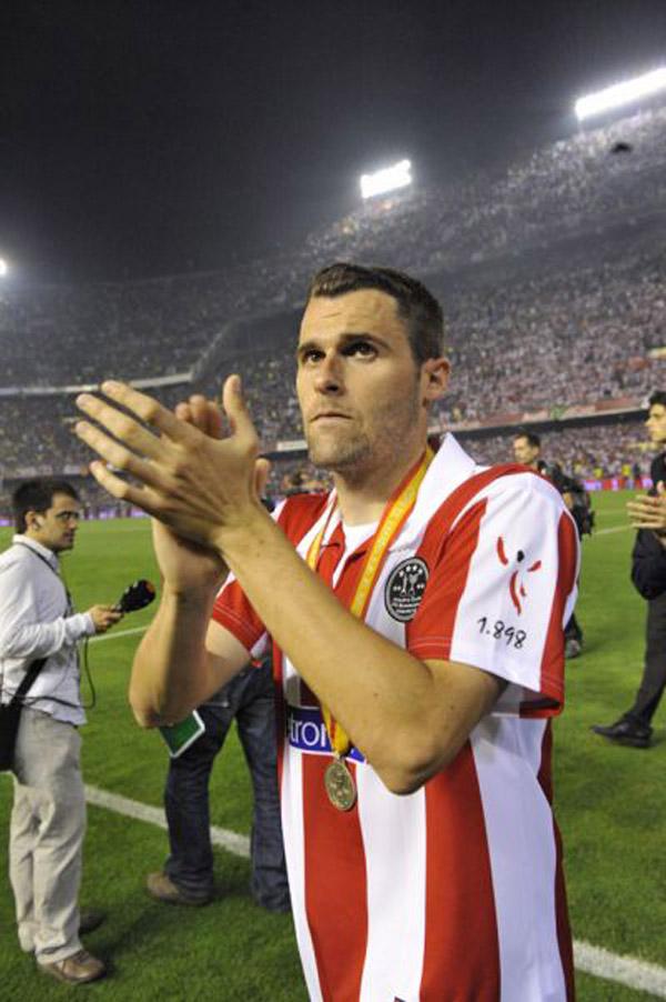 Orbaiz llora tras perder la final de la Copa del Rey de 2009
