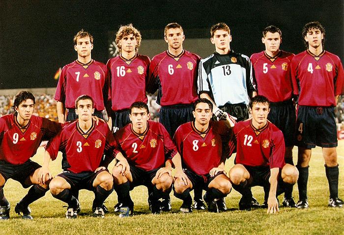 Selección de España campeona del Mundial Sub'20 en Nigeria 1999