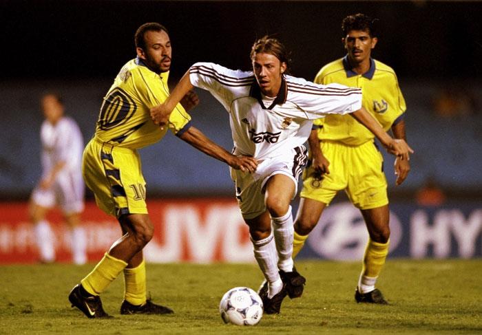 Guti con el Real Madrid en el Mundial de Clubes 2000