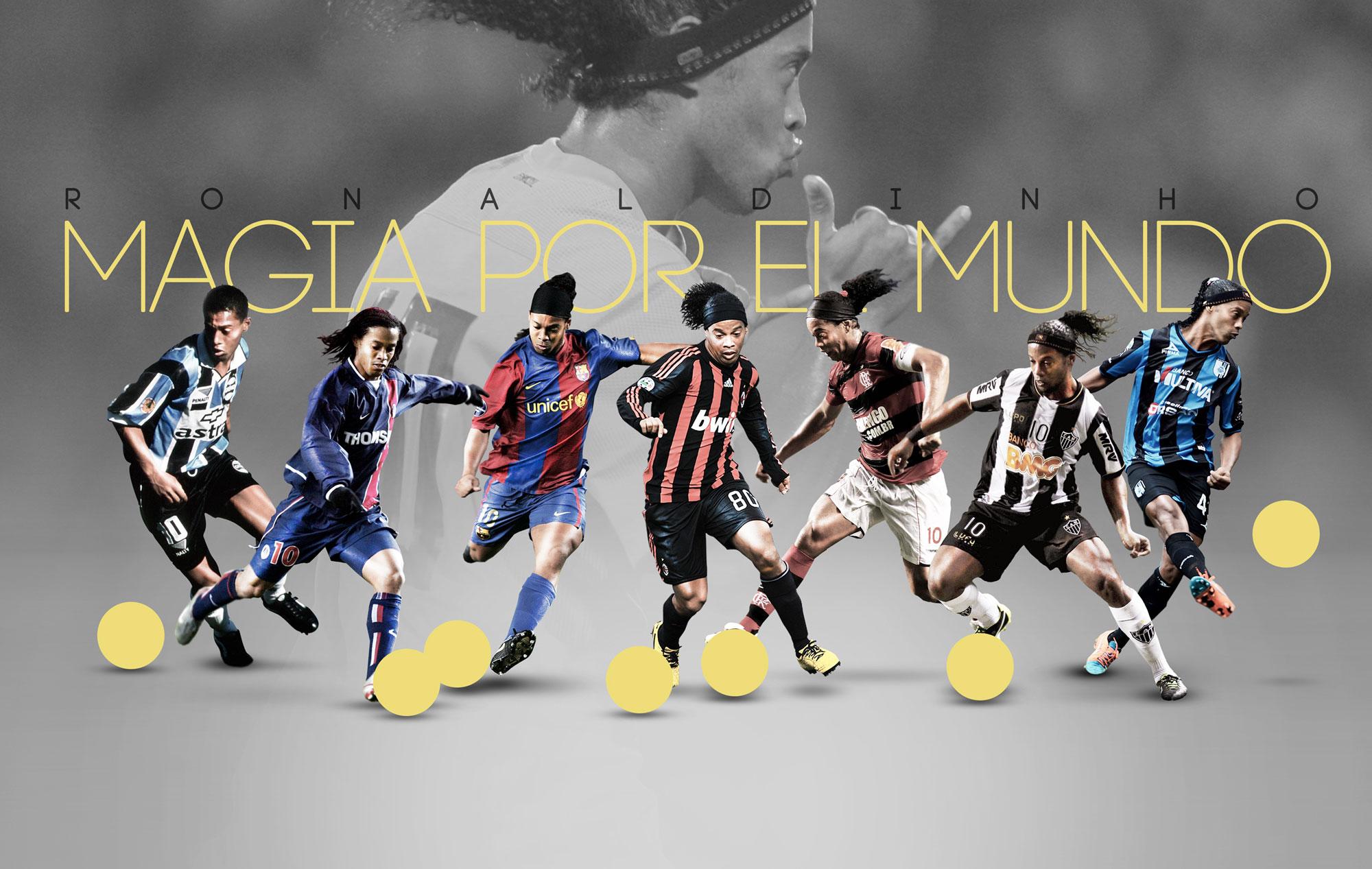 Los distintos equipos de Ronaldinho