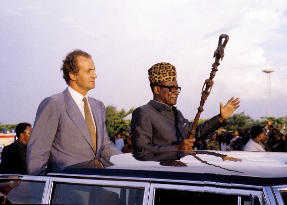 Mobutu y Juan Carlos I,  rey de España