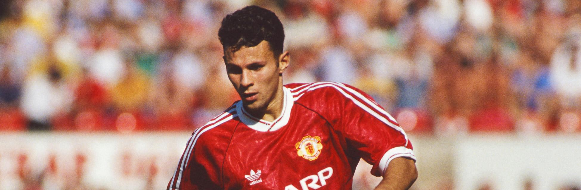 Ryan Giggs en sus inicios con el Manchester United