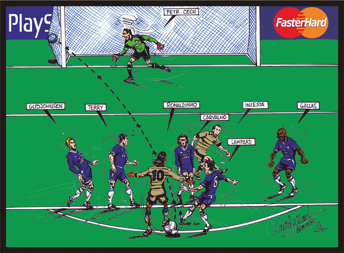 Gol de Ronaldinho al Chelsea