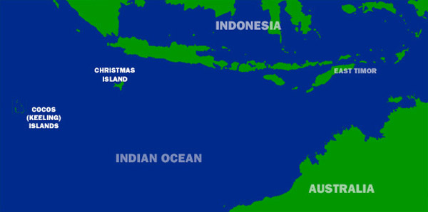 Mapa Isla de Navidad
