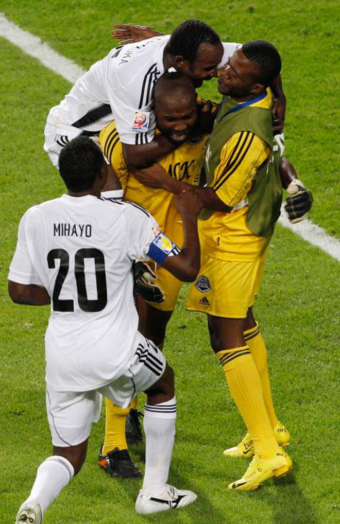 Kidiaba celebra con el TP Mazembe
