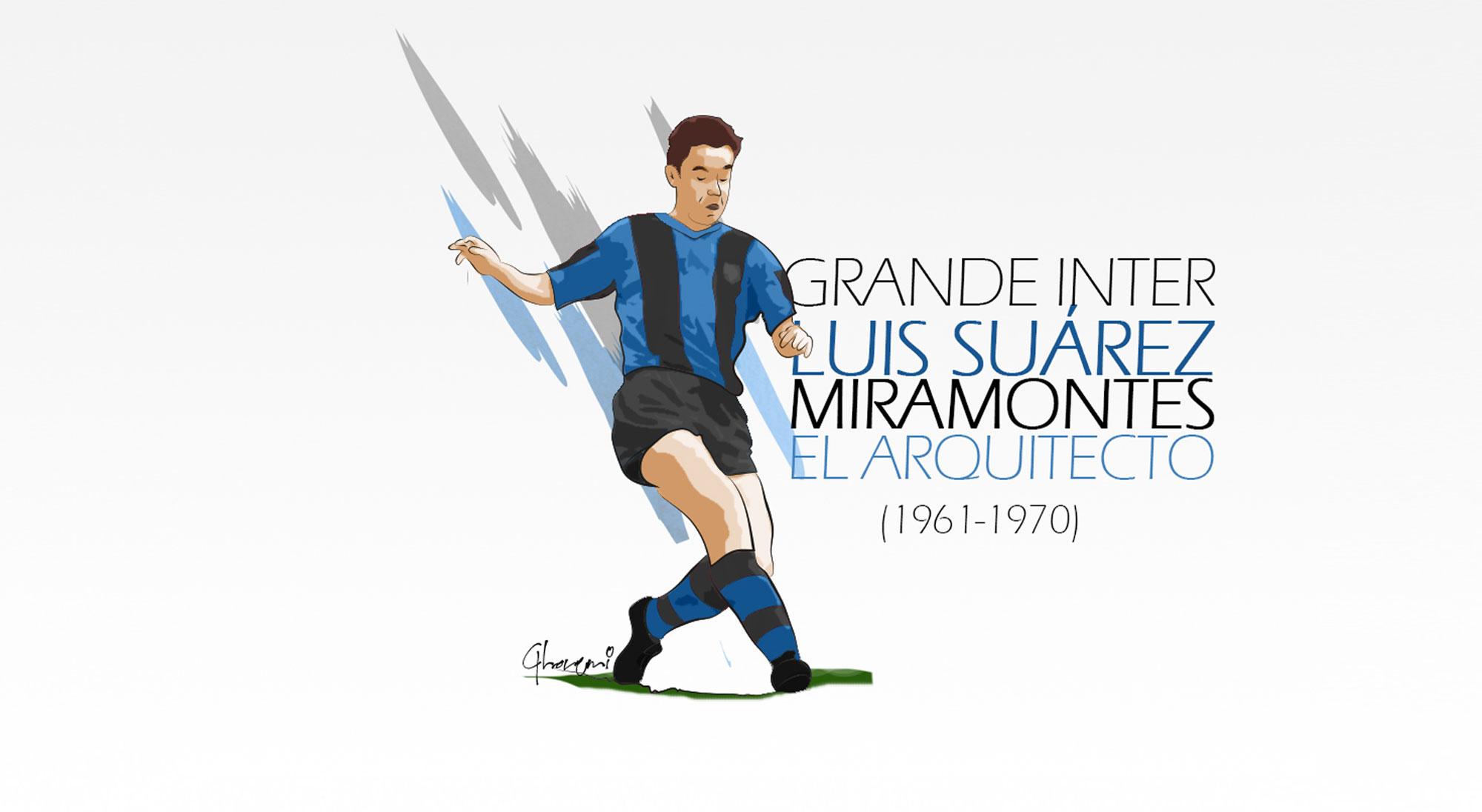 Ilustración de Luis Suárez en el Inter