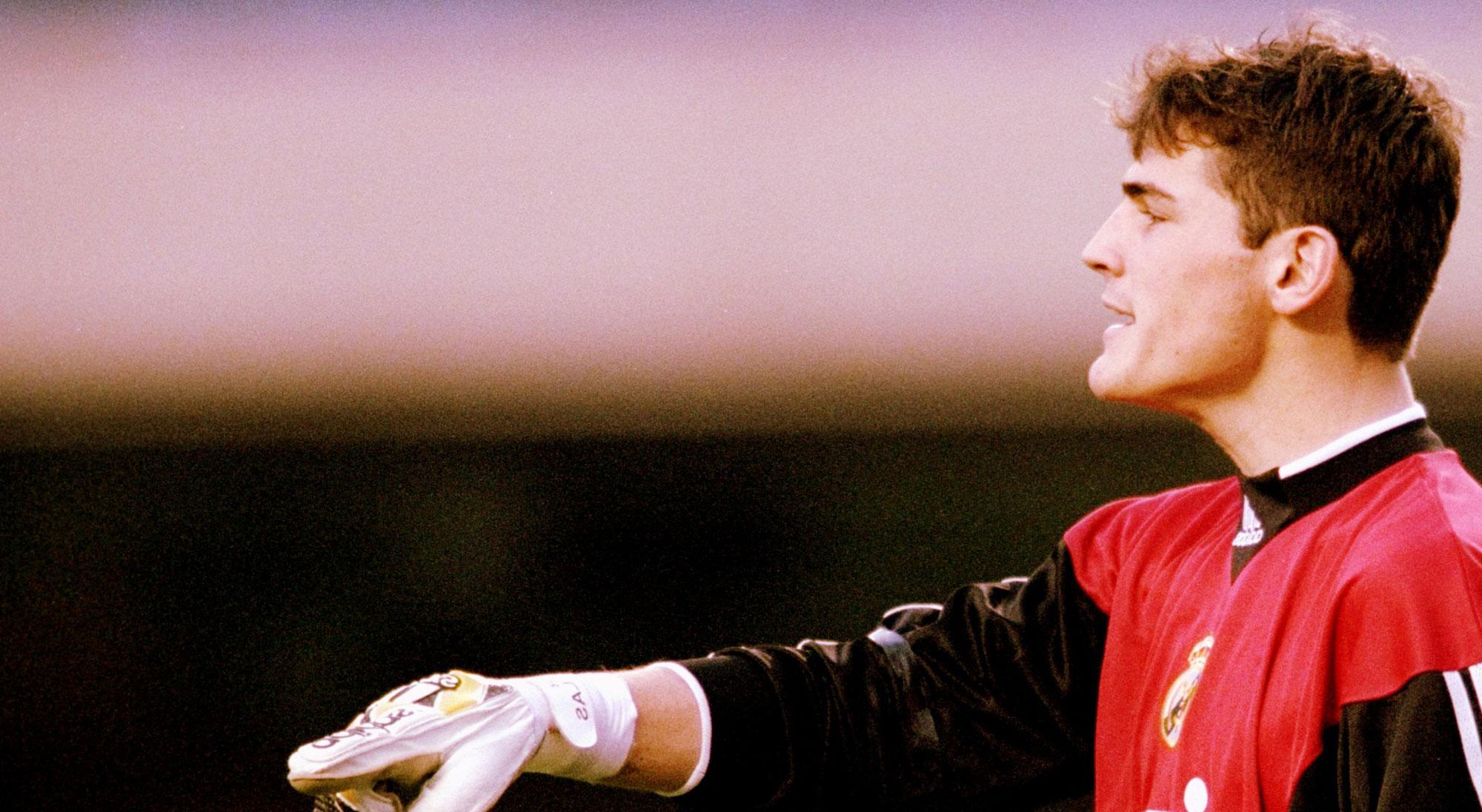Iker Casillas en el Mundial de Clubes 2000 con el Real Madrid