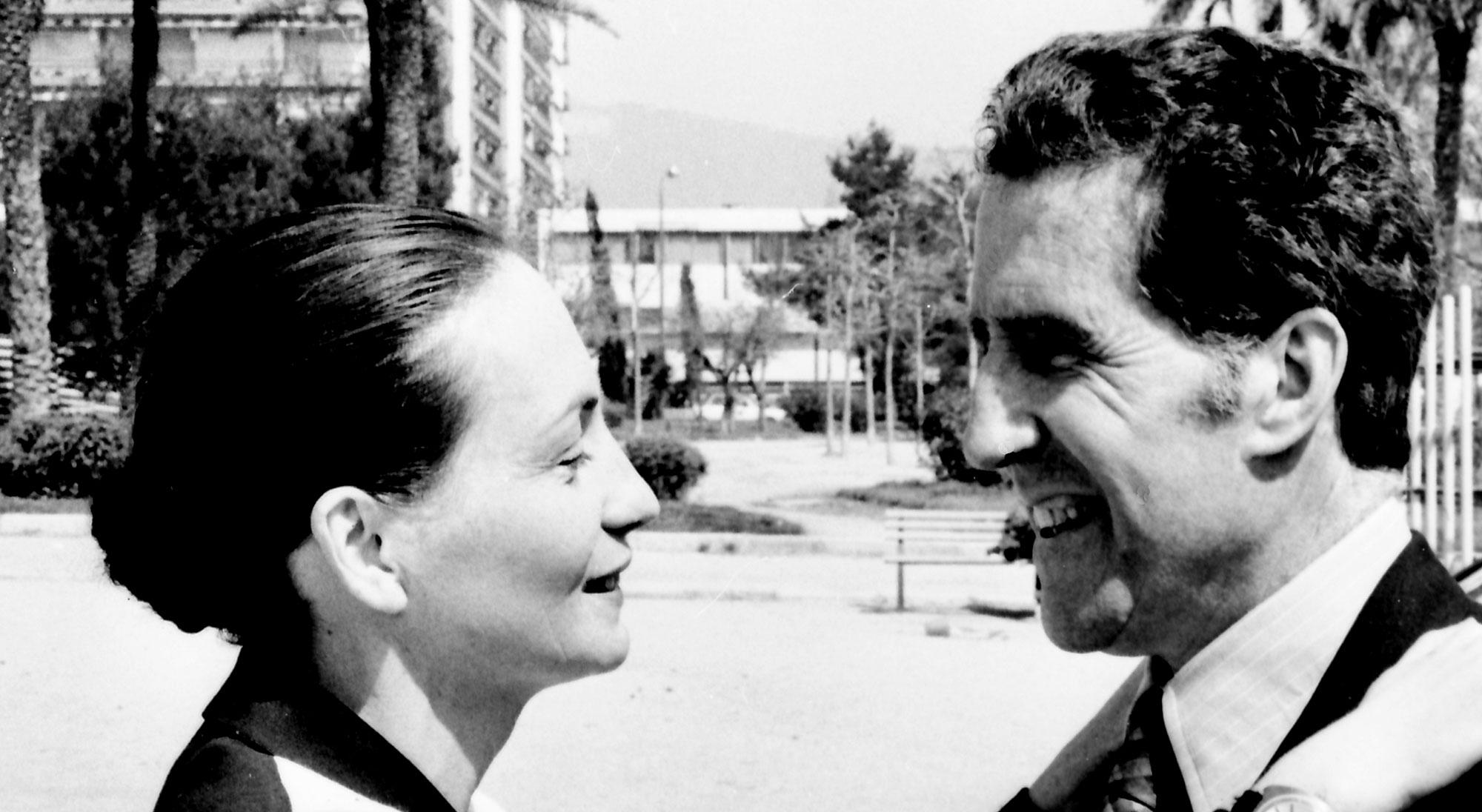 Helenio Herrera y su mujer