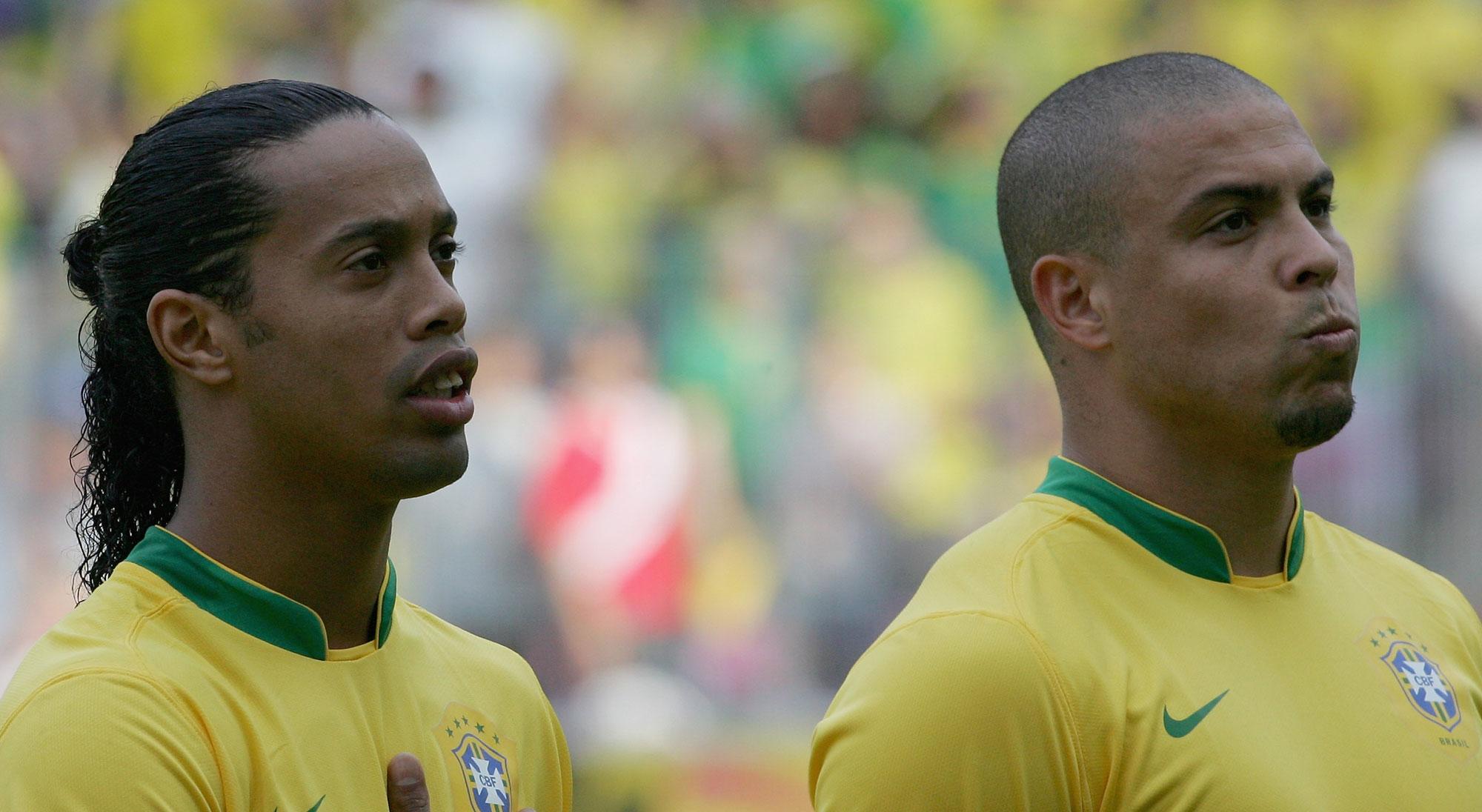 Ronaldinho y Ronaldo con Brasil