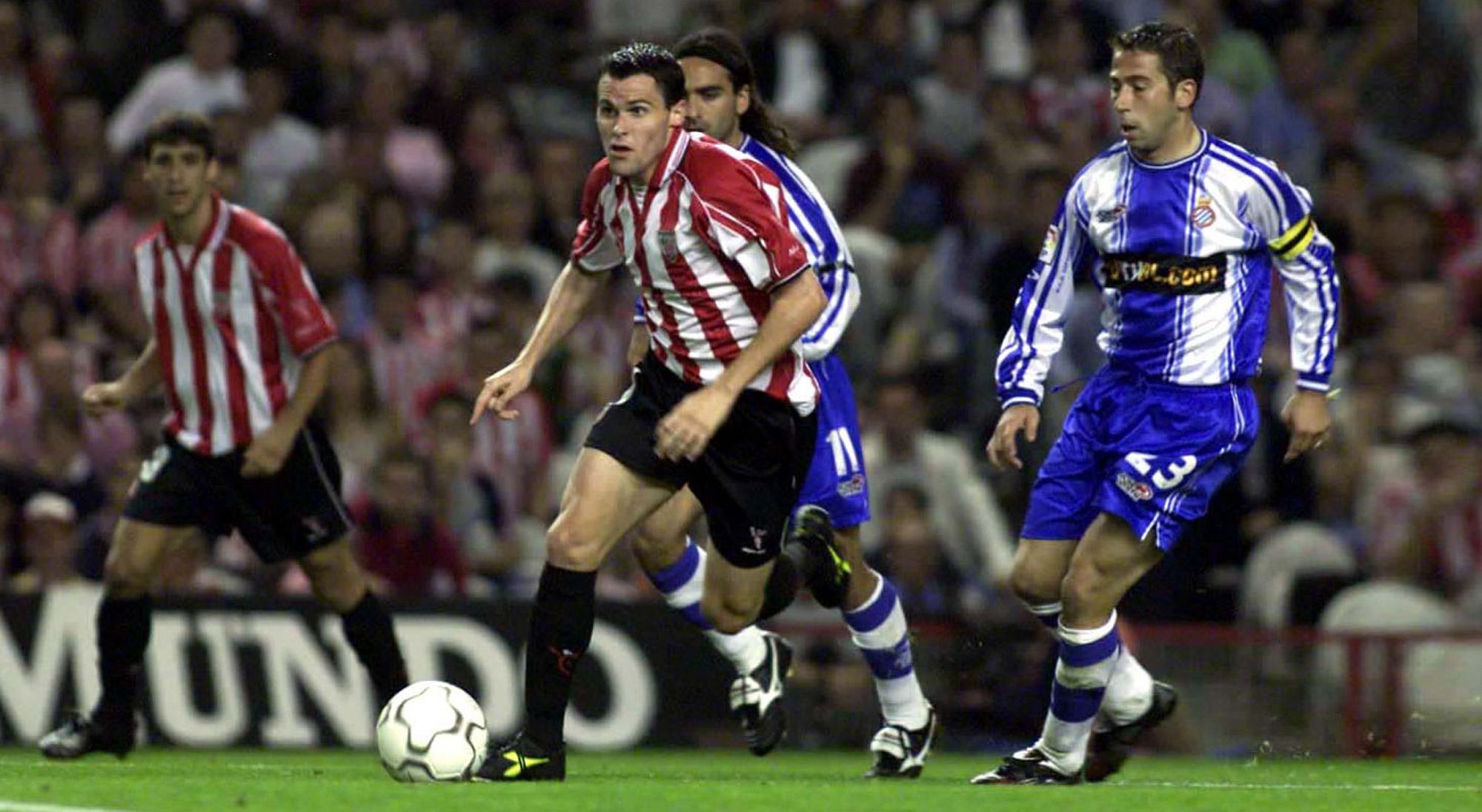 Orbaiz con el Athletic contra el Espanyol