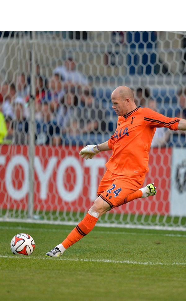 Friedel con el Tottenham