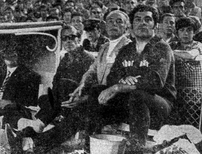 Stanley Matthews como entrenador en el  Santiago Bernabéu