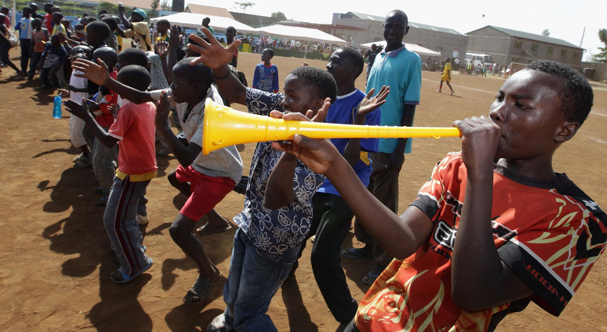 Aficionado del fútbol en Kenia