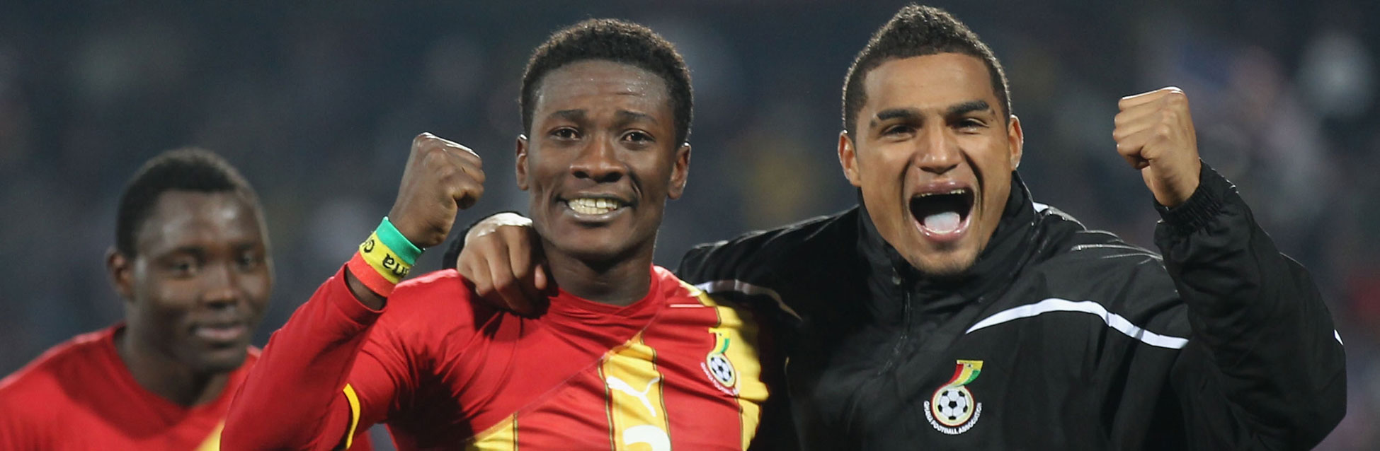 Asamoah Gyan y Kevin Prince Boateng