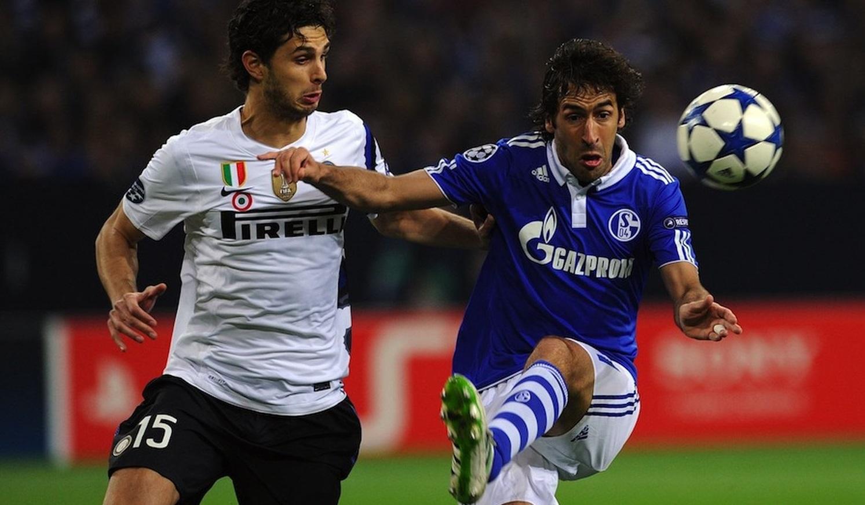 Raúl González en su etapa en el Schalke 04