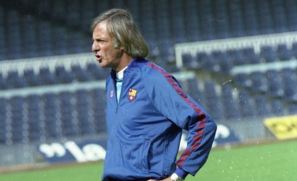 César Luís Menotti en su etapa como técnico del F. C Barcelona
